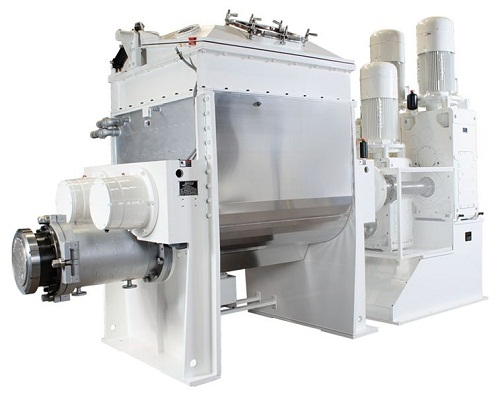 Double Arm Mixer or Sigma Blade mixer extruders5